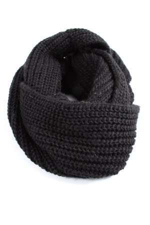 Pieces Snood zwart kabel steek casual uitstraling
