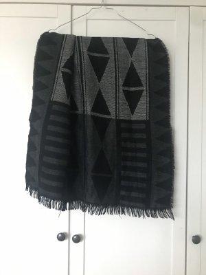 Pieces Écharpe à franges noir-gris