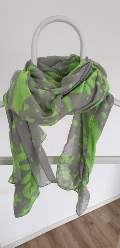 Pieces Summer Scarf grey-neon green