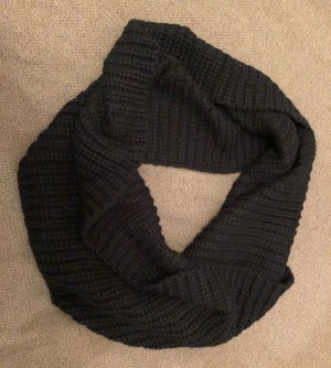 PIECES Schlauch-Schal, gestrickt, schwarz, weich und kuschelig, komplett neu