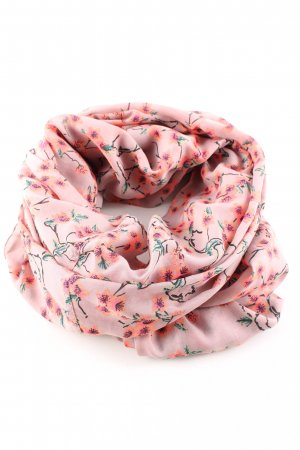 Pieces Tube Scarf pink-khaki flower pattern casual look