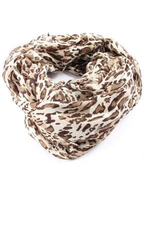 Pieces Écharpe tube blanc-brun imprimé allover style décontracté