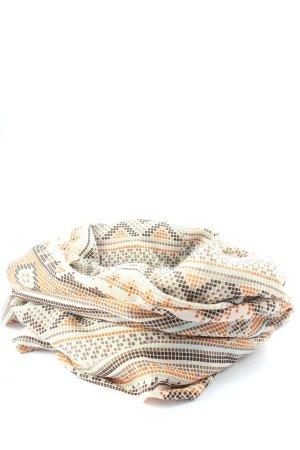 Pieces Écharpe tube blanc-orange clair imprimé allover style décontracté
