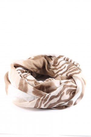 Pieces Tube Scarf brown-natural white allover print casual look
