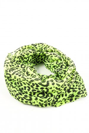 Pieces Tube Scarf green-black animal pattern casual look