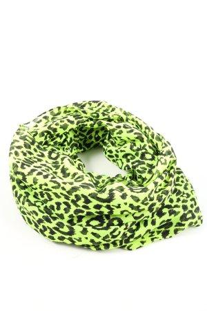 Pieces Écharpe tube vert-noir motif animal style décontracté