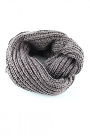 Pieces Tube Scarf light grey cable stitch casual look