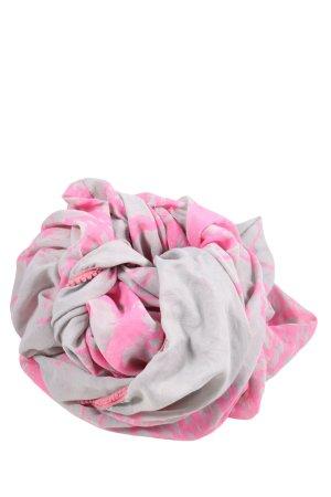 Pieces Écharpe tube gris clair-rose imprimé allover style décontracté