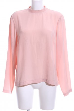 Pieces Schlupf-Bluse pink Business-Look