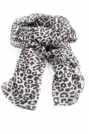 Pieces Shoulder Scarf white-black leopard pattern casual look