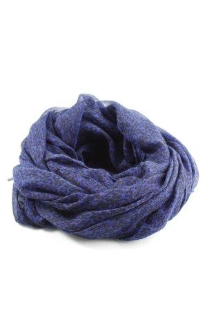 Pieces Châle au tricot bleu-noir motif abstrait style décontracté