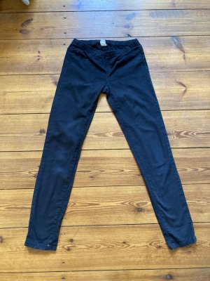 Pieces: Schwarze Skinny-Jeans mit Gummizug, Gr. xs/34/ S/36