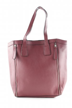 Pieces Shopper bordeauxrot schlichter Stil