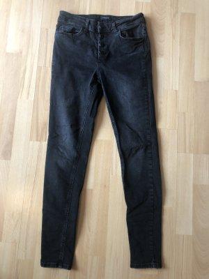 Pieces Skinny Jeans Delly Vero Moda schwarz / anthrazit Gr. 38 / M