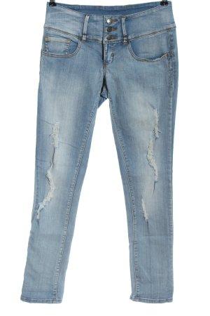 Pieces Slim Jeans blau Casual-Look