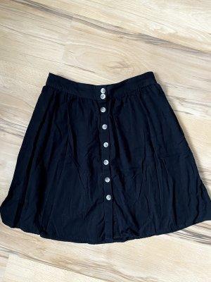 Pieces Linen Skirt black
