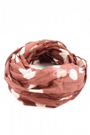 Pieces Summer Scarf red-white allover print casual look