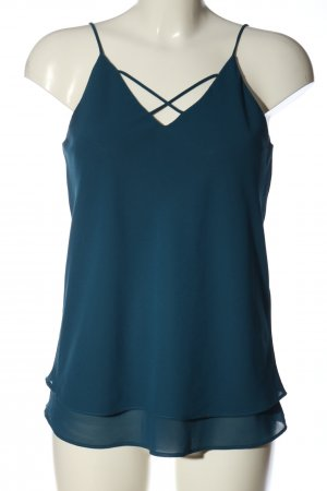 Pieces Spaghettiträger Top blau Casual-Look