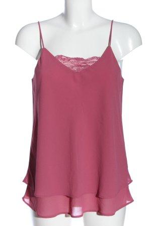 Pieces Top z cienkimi ramiączkami różowy W stylu casual