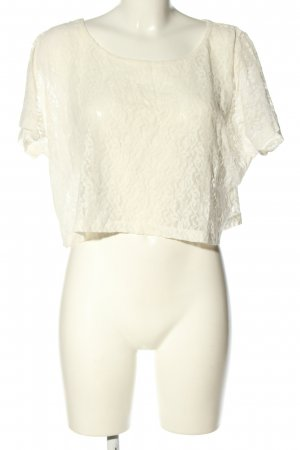 Pieces Blusa in merletto bianco stile casual