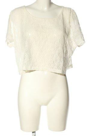 Pieces Koronkowa bluzka biały W stylu casual