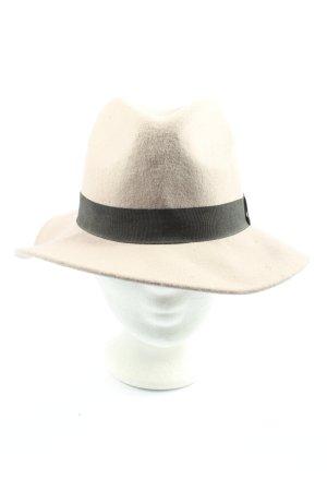 Pieces Czapka z tkaniny w kolorze białej wełny-czarny W stylu casual