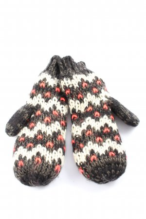 Pieces Knitted Gloves cable stitch casual look