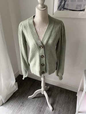 Pieces Cardigan sage green-lime-green