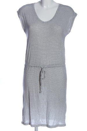 Pieces Strickkleid weiß-schwarz Streifenmuster Casual-Look