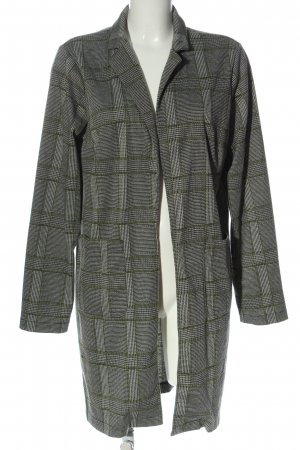 Pieces Knitted Coat black-white check pattern casual look