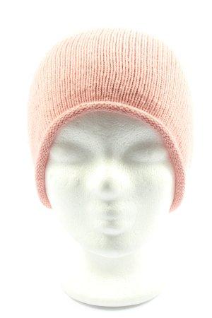 Pieces Sombrero de punto rosa punto trenzado look casual