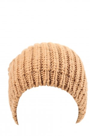 Pieces Knitted Hat brown cable stitch casual look