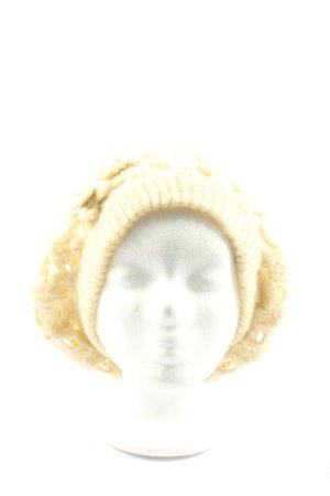 Pieces Sombrero de punto blanco puro look casual