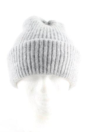 Pieces Cappello a maglia grigio chiaro puntinato stile casual