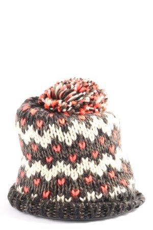 Pieces Chapeau en tricot multicolore style décontracté