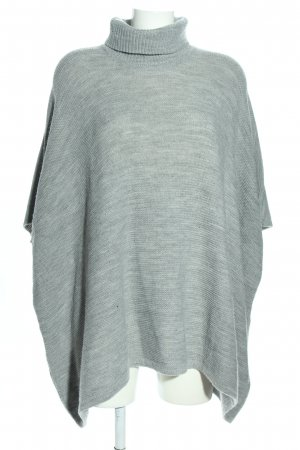Pieces Knitted Poncho light grey flecked casual look