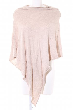 Pieces Strickponcho beige Casual-Look