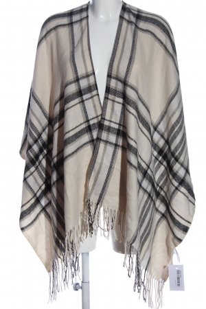 Pieces Strickponcho Karomuster Casual-Look