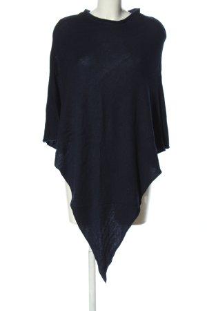 Pieces Poncho en tricot bleu style décontracté