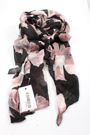 Pieces Strickschal schwarz-pink Allover-Druck Casual-Look