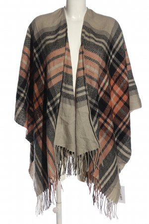 Pieces Poncho Karomuster Casual-Look