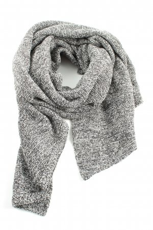 Pieces Écharpe en tricot noir-blanc moucheté style décontracté