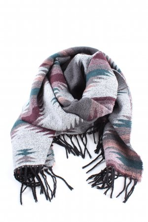 Pieces Knitted Scarf graphic pattern casual look
