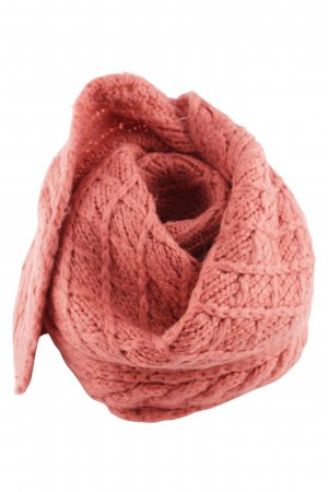 Pieces Knitted Scarf pink cable stitch casual look