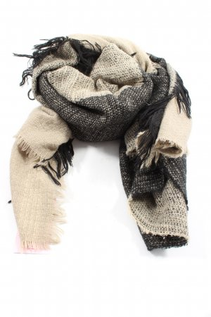 Pieces Knitted Scarf black-cream casual look