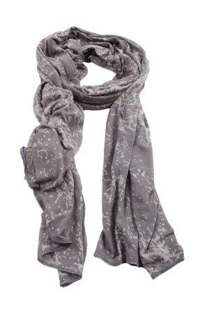 Pieces Bufanda de punto gris claro estampado con diseño abstracto look casual