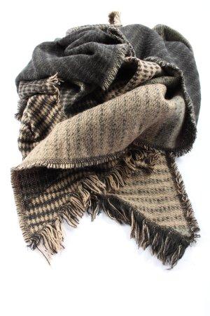 Pieces Écharpe en tricot blanc cassé-noir moucheté style décontracté