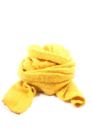 Pieces Bufanda de punto amarillo pálido look casual