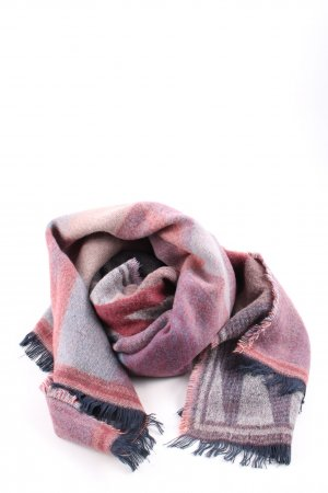 Pieces Knitted Scarf check pattern casual look