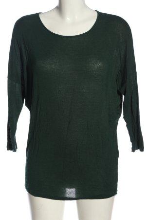 Pieces Camicia maglia verde stile casual